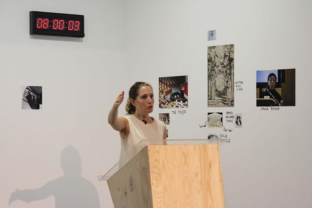 Discurs Final, comentari de Judith López – 06/09/2016. Foto: Ikram Bouloum